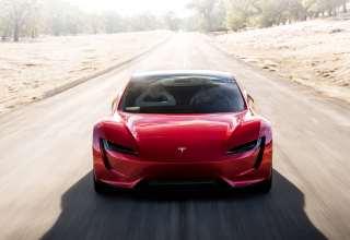 Tesla Roadster Front Look Wallpaper