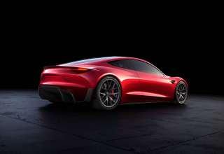 Tesla Roadster Rear Look Wallpaper