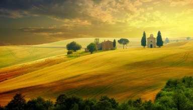 Tuscany Italy Hills Field 5k Wallpaper