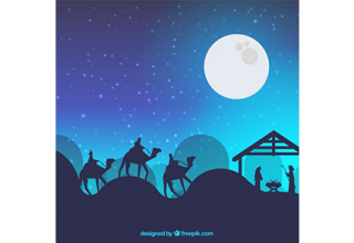دانلود وکتور Nativity scene background