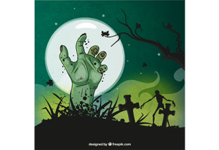 دانلود وکتور Scary halloween background