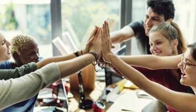 Teamwork Power Successful Meeting Workplace