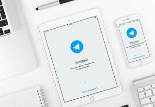 Telegram application on iPad and iPhone display