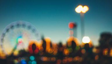 Amusement Park Blur Wallpaper