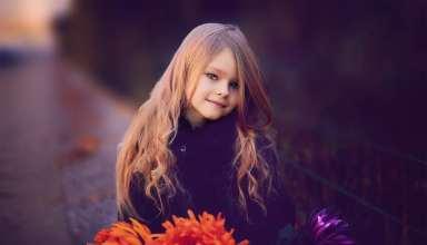 Beautiful Blur Child Close-up Wallpaper