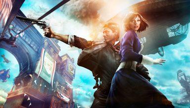 Bioshock Infinite Booker Dewitt and Elizabeth 8k Wallpaper