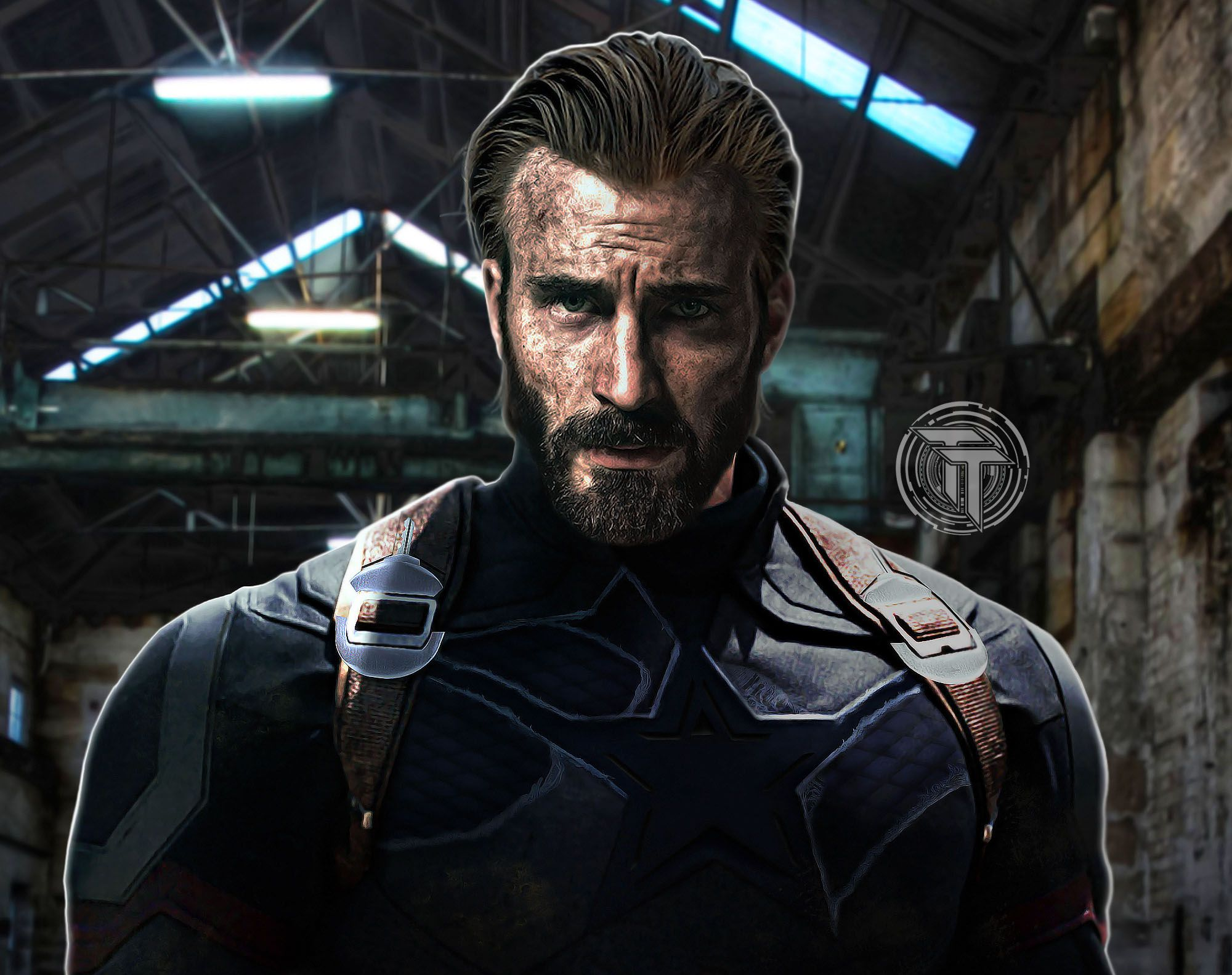 Captain America With Beard In Avengers Infinity War 2018 Wallpaper