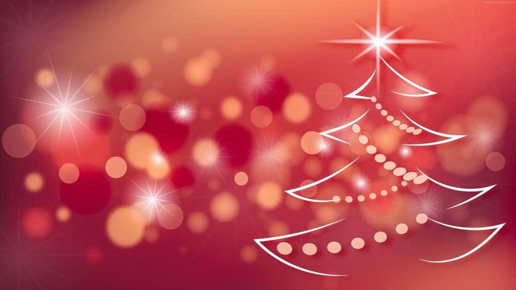Christmas New Year Fir Tree 4k Wallpaper