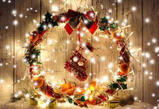 Christmas New Year Gift Balls Decorations Wallpaper