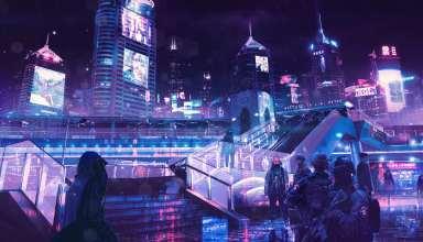 Cyberpunk Neon City Wallpaper