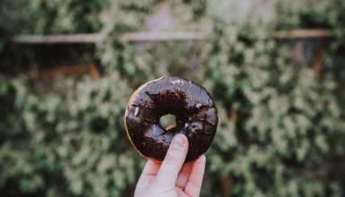 Donut Hand Chocolate Wallpaper