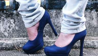 Girl Shoes Heels Jeans Legs Wallpaper