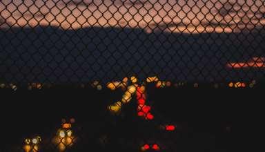 Grid Glare Night Wallpaper