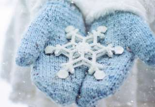 Hand Snowflake Winter 5k Wallpaper