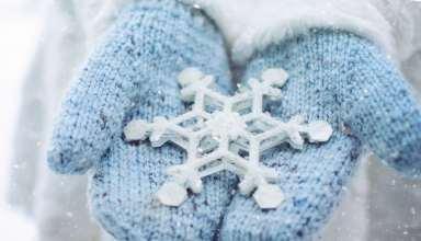 Hand Snowflake Winter 5k Wallpaper