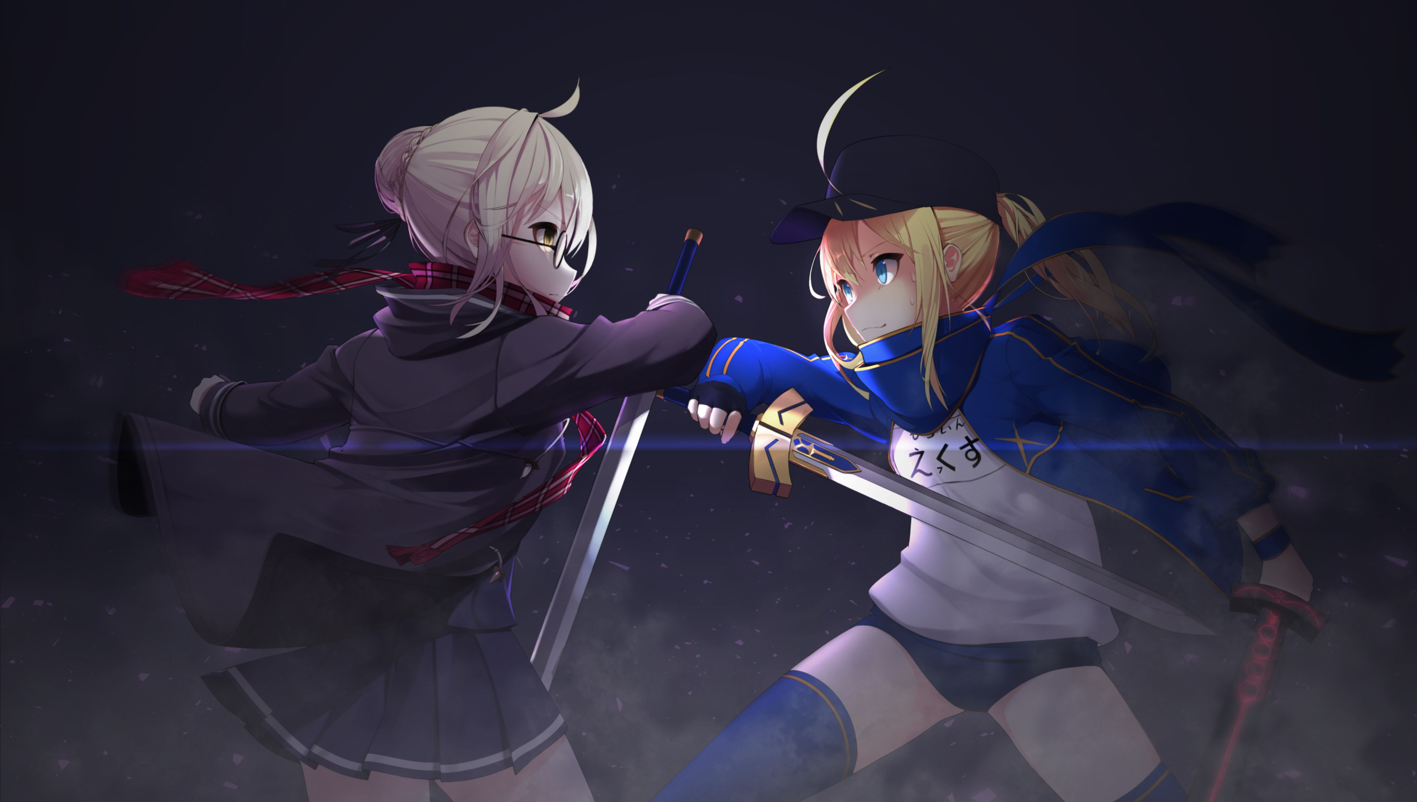 Heroine X And Saber Anime Fate Grand Order Wallpaper