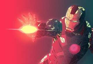 Iron Man Low Poly Wallpaper