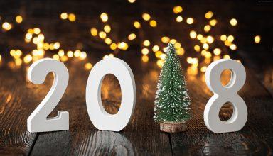 New Year 2018 Fir Tree 4k Wallpaper