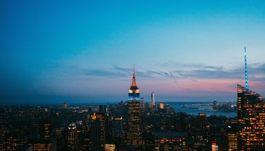 New York United States Skyscrapers Night City Wallpaper