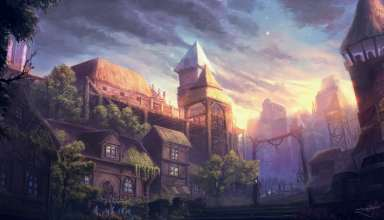 Old City Fantasy Wallpaper