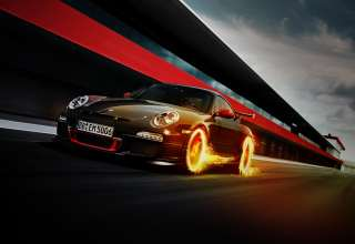 Porsche 911 GT3 RS Fire Wallpaper