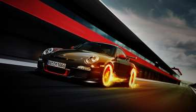 Porsche 911 GT3 RS Fire Wallpaper