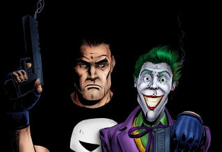Punisher and Joker Artwork Wallpaper