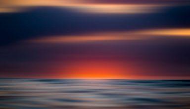 Sunset View Blur 8k Wallpaper