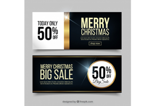 دانلود وکتور Christmas sale banners