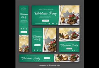 دانلود وکتور Christmas banners pack