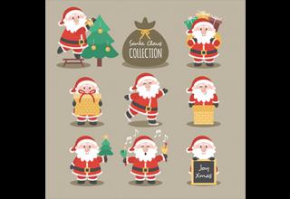 دانلود وکتور Santa Claus Collection