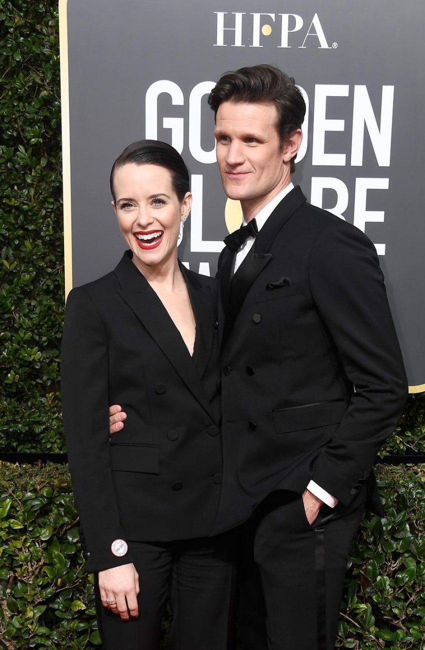 Claire Foy (L) and Matt Smith