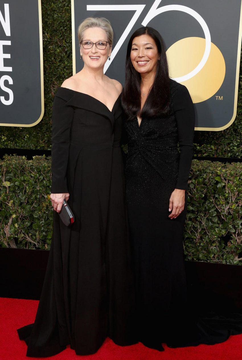 Meryl Streep (L) and Ai-jen Poo