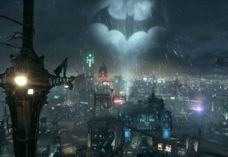 Bat Light in The Sky Batman Standing Wallpaper