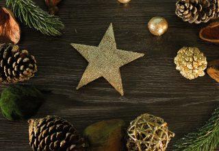 Christmas New Year Decorations Star 5k Wallpaper