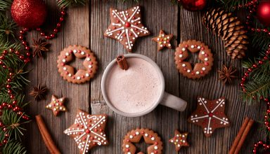 Christmas New Year Cookies Cocoa Cinnamon 5k Wallpaper