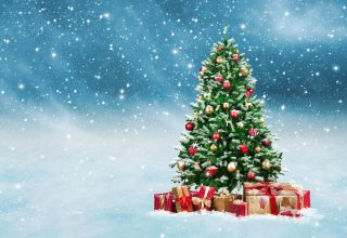 Christmas New Year Gifts Fir Tree Snow 5k Wallpaper