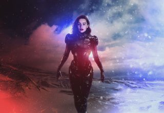 Emilia Clarke Shepard Mass Effect 4k Wallpaper