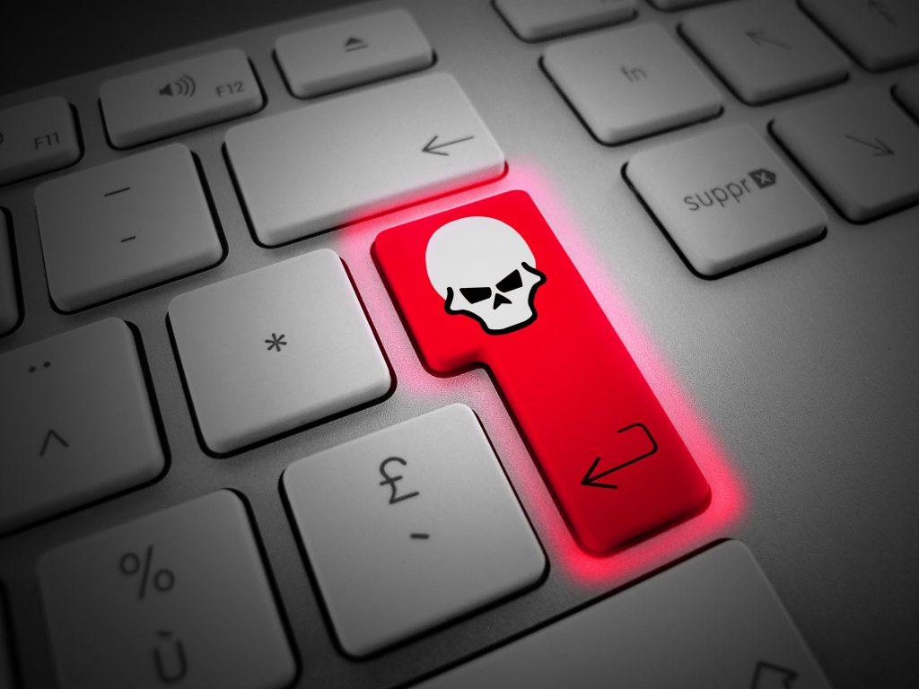 Enter Key Skull Hacking Wallpaper