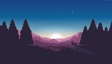 Forest Sunset Fox 4k Wallpaper