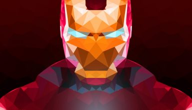 Iron Man Abstract Art Wallpaper