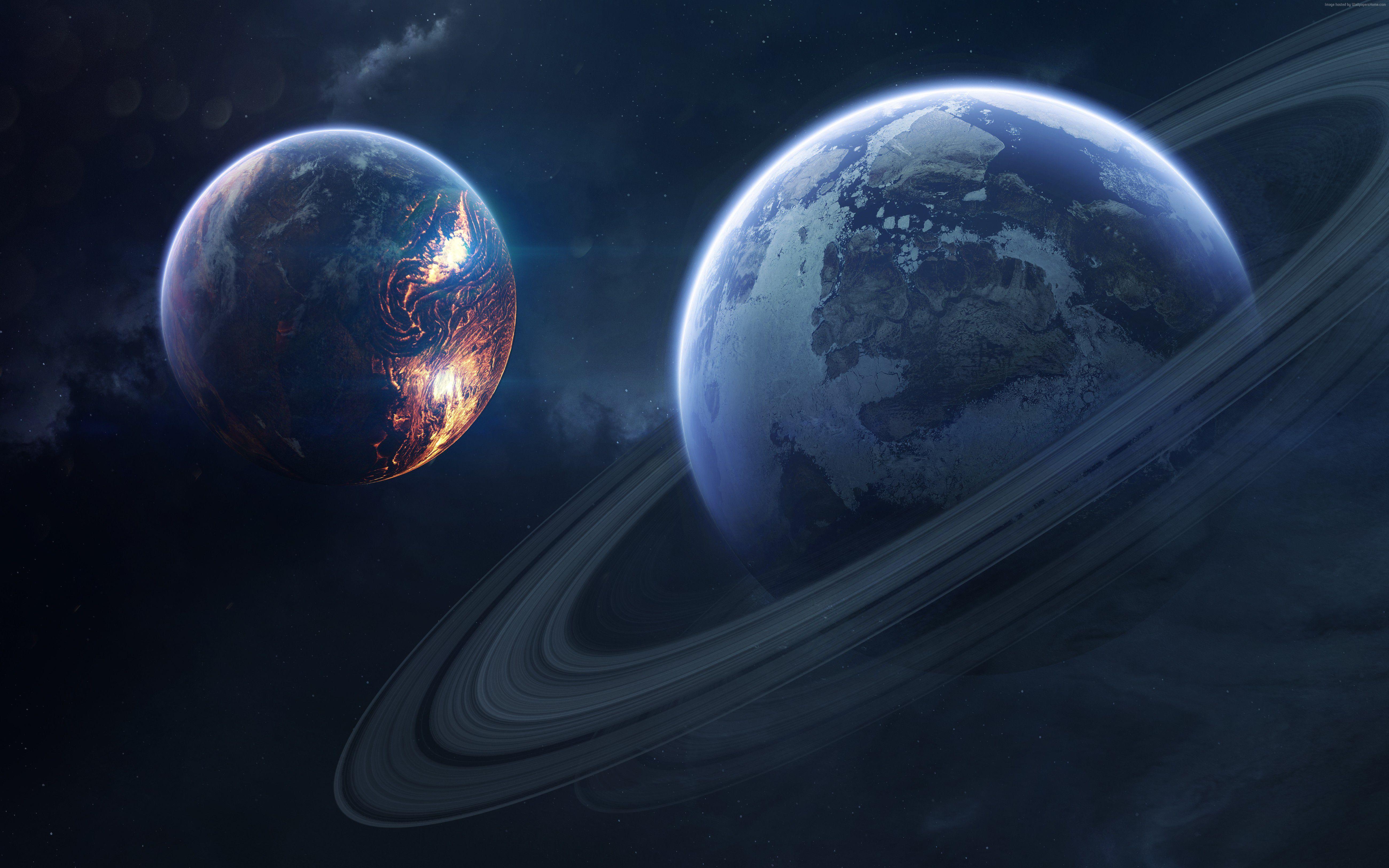 planet saturn rings - HD2880×1800
