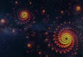 Spirals Starry Sky Universe Space Wallpaper