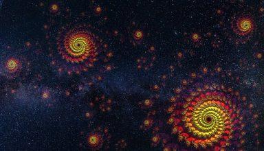 Spirals Starry Sky Universe Space Wallpaper