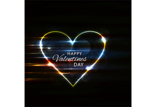 دانلود وکتور Happy Valentine's day colorful shiny heart background
