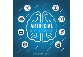 دانلود وکتور Flat artificial intelligence background