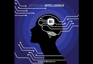 دانلود وکتور Flat artificial intelligence background