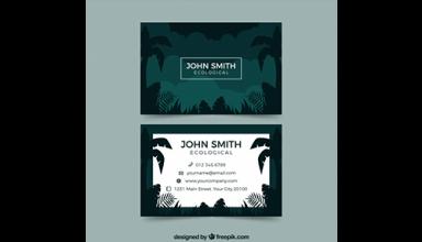 دانلود وکتور Tropical business card template