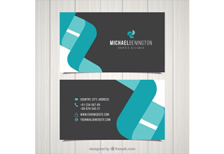 دانلود وکتور Flat business card