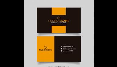دانلود وکتور Black and yellow business card